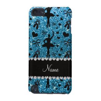 Custom name sky blue glitter ballerinas iPod touch 5G cases