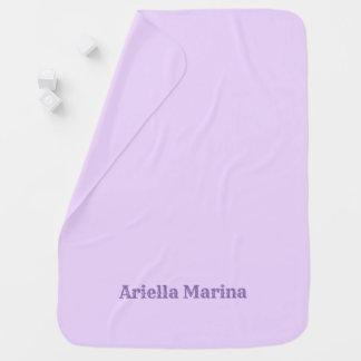 Custom Name Solid Color Lavender Baby Blanket