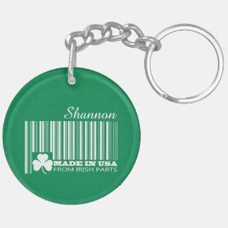 Custom Name St. Patrick's Day Fun Gift Keychains Round Acrylic Keychain