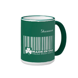 Custom Name St. Patrick's Day Fun Gift Mugs Ringer Mug