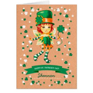 Custom Name St. Patrick's Day Fun Greeting Cards