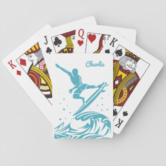 Custom Name Surfer playing cards