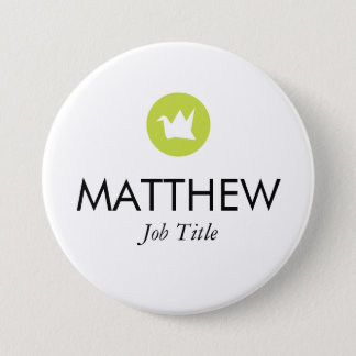 Custom Name Tag 3 Inch Round Button