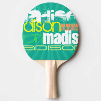 Custom Name Teal Green Ping Pong Paddle