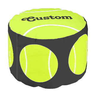 Custom Name Tennis Ball Round Pouf Beanbag Chair