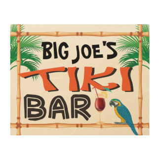 Custom Name Tiki Bar Sign