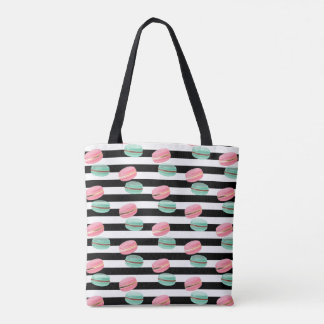 Custom Name Tote Bag-Macarons
