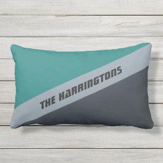 Custom Name Tri-Color throw pillow