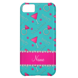 Custom name turquoise bachelorette cocktails rings iPhone 5C case