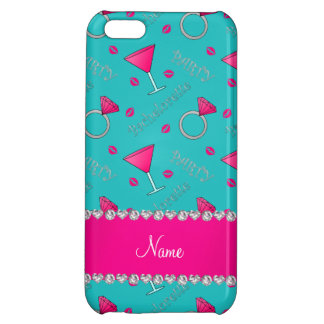 Custom name turquoise bachelorette cocktails rings iPhone 5C covers