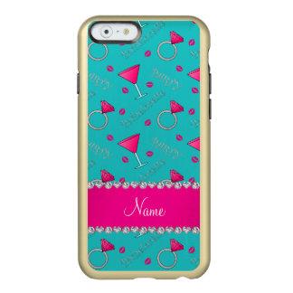 Custom name turquoise bachelorette cocktails rings incipio feather® shine iPhone 6 case