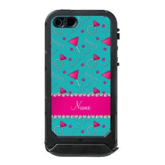 Custom name turquoise bachelorette cocktails rings incipio ATLAS ID™ iPhone 5 case