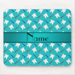 Custom name turquoise brushes and tooth pattern