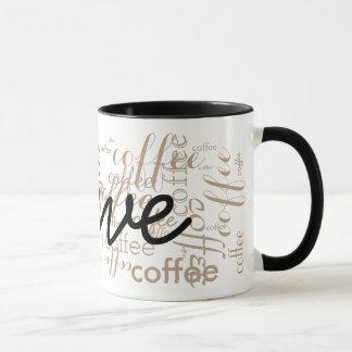 custom name typography mug