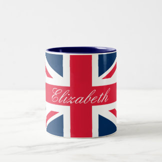 Custom Name Union Jack Mug