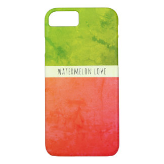 Custom Name Watermelon Color Block iPhone 7 Case