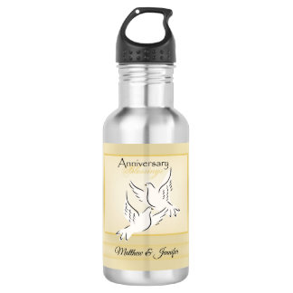 Custom Name, Wedding Anniversary Blessings 532 Ml Water Bottle