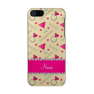 Custom name white bachelorette cocktails rings incipio feather® shine iPhone 5 case
