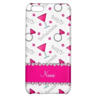 Custom name white bachelorette cocktails rings iPhone 5C case