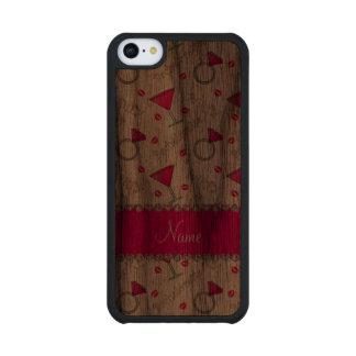 Custom name white bachelorette cocktails rings walnut iPhone 5C case