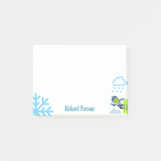 Custom Name | Winter Lovers Post-it Notes