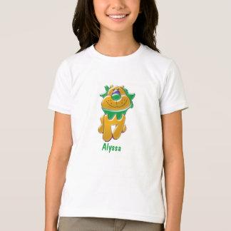 Custom Name with Cartoon Lion Kid's Tshirt