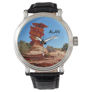 Custom Name Wrist Watch, Rock Formation Watches