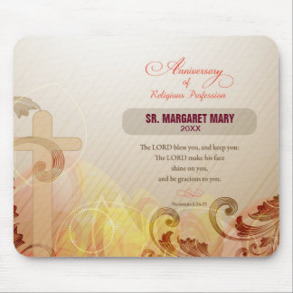 Custom Name & Year Nun, 60th Anniversary Religious Mouse Pad