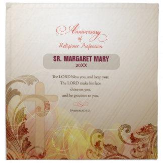 Custom Name & Year Nun, 60th Anniversary Religious Napkin