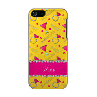 Custom name yellow bachelorette cocktails rings incipio feather® shine iPhone 5 case