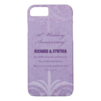 Custom Names, 50th Wedding Anniversary to Couple iPhone 8/7 Case