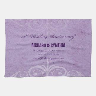 Custom Names, 50th Wedding Anniversary to Couple Kitchen Towel