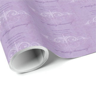 Custom Names, 50th Wedding Anniversary to Couple Wrapping Paper