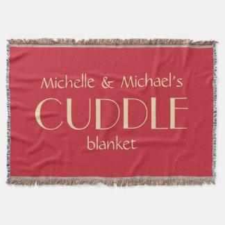 Custom names & colour SNUGGLE throw blanket