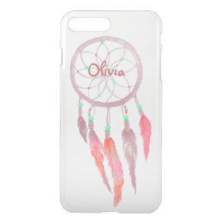 Custom Native American Dream Catcher Pink Feather iPhone 7 Plus Case