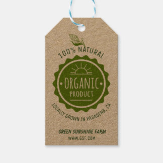 Custom Natural Organic Green Eco Product Pack Of Gift Tags