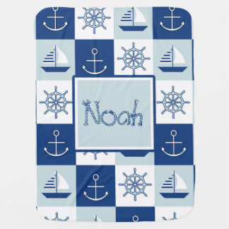 Custom Nautical Baby Blanket
