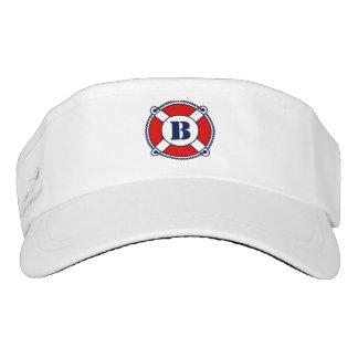 Custom nautical buoy monogram sun visor cap hat