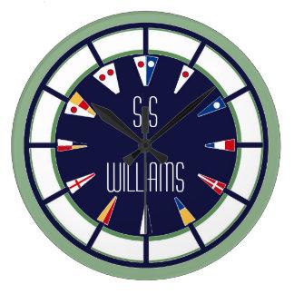 Custom Nautical Flag Numeral Wall Clock