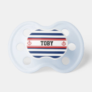 Custom Nautical Navy Stripes Pacifier