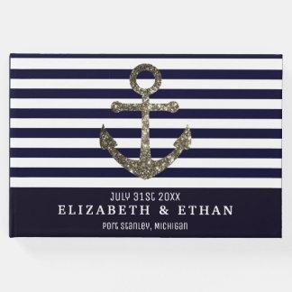 Custom Nautical Sailing Themed Wedding Guest Book