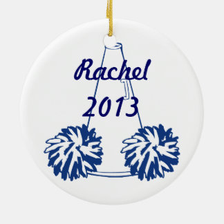 Custom Navy Blue Cheerleading Ornament