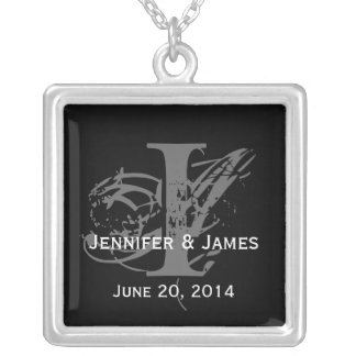 Custom Necklaces Monograms Names Save the Date