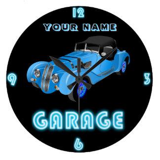 Custom NEON GARAGE Clock ADD Business Name Cars 2