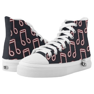Custom Neon Musical Notes. Add Name. High Tops