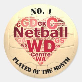 Custom Netball Award Player Reward Classic Round Sticker