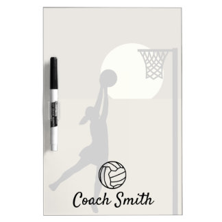 Custom Netball Coach Personalized Dry Erase Board