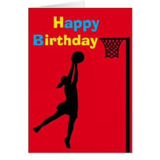 Custom Netball Player Birthday Card
