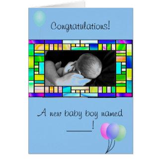 Custom New Baby Boy Congratulations Card