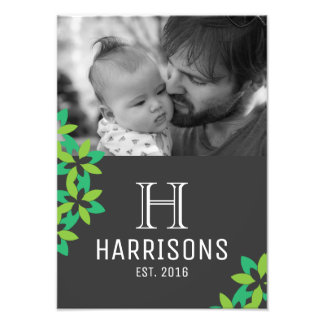 Custom New Dad Photo | Family Name and Monogram
